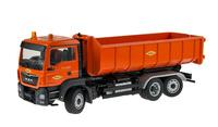 Man Tgs+ Meiller contenedor - Colas - Conrad Modelle 77217/02 escala 1/50