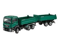 Man Tgs M Euro 6 + Meiller Dreiseitenkipper und Anhänger Conrad Modelle 77182 Masstab 1/50