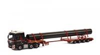 Man Tgx xxl + plataforma 4 ejes + carga - mammoet - Wsi Models