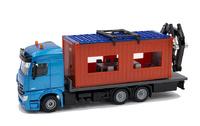 Mercedes Actros + Ladekran mit Baucontainer Siku 3556 Masstab 1/50