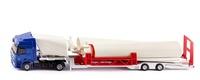 Mercedes Actros + plataforma transporte molino de viento Siku 3935