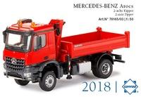 Mercedes Arocs + grua Conrad Modelle 78165/03 escala 1/50