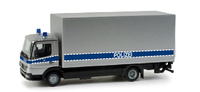 "Mercedes-Benz Atego box trailer ""police department"", Herpa 1/87"
