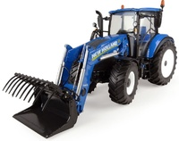 New Holland T5.120 con pala Universal Hobbies 4958 escala 1/32