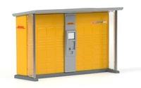 Paketbox - Dhl - Rietze Modelle 70217 Masstab 1/87