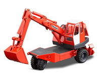Poclain TY 45 excavadora hidraulica 3 ruedas Conrad Modelle 2925 escala 1/50