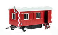 Remolque Caseta Obra Rojo Nzg Modelle 505/10 escala 1/50