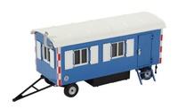 Remolque Caseta Obra azul Nzg Modelle 505/20 escala 1/50