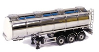 Remolque cisterna blanca / cromado, Wsi Models 1006 escala 1/50