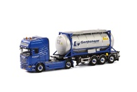 Scania R + 20ft Swap body Gentenaar Wsi Models 01-1782b