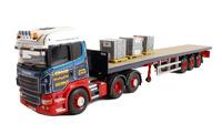 Scania R + plataforma 3 ejes - Ian Craig - Corgi escala 1/50