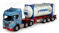 Scania R Highline + swap tank container Tekno 72227 escala 1/50