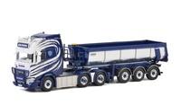 Scania R Highline + trailer volquete Lastebilsentral Wsi Models 01-2748