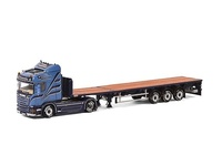 Scania R Streamline Highline + plataforma extensible 3 ejes Wsi Models escala 1/50