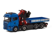 Scania R Streamline Highline Fassi 1100 + Jib + Ballast box Wsi Models 04-1163