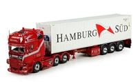 Scania R Topline + contenedor Hamburg Sud Tekno 69786 escala 1/50