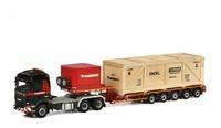 Scania R6 Highline 6x6 + plataforma + carga - mammoet - Wsi Models