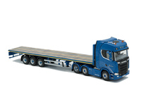 Scania S Highline 6x2 + plataforma 3 ejes - Blue Crown - Imc Models 0077