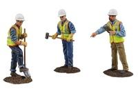 Set 3 Figuren aus Metall Bauarbeiter First Gear 0481 Masstab 1/50