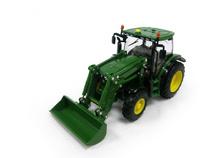Tractor John Deere 6150R con pala Britains 42821 escala 1/32