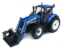 Tractor New Holland T5.115 con cargadora Universal Hobbies 4274 escala 1/32