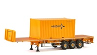 Trailer plataforma 3 ejes + contenedor 20 pies Wsi Models 01-2369 escala 1/50