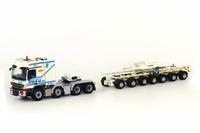 Transporte pluma LTM 11200 Roxu + Mercedes 8X4 Wsi Models