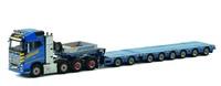 Volvo Fh4 Globetrotter + Flachbettauflieger 6 achs + Dolly 2 achs - Havator - Wsi Models