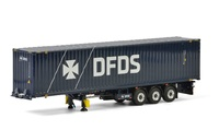 container trailer + contenedor DFDS Wsi Models 04-2073