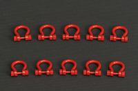 grilletes 200 t set 10 ud rojo, Ycc Models yc636-1 escala 1/50
